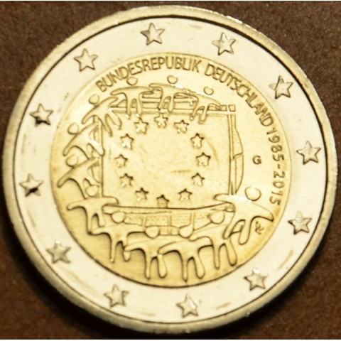 "2 Euro Germany ""G"" 2015 - 30 years of European flag (UNC)"
