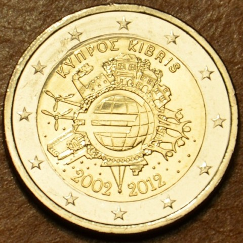2 Euro Cyprus 2012 - Ten years of Euro  (UNC)