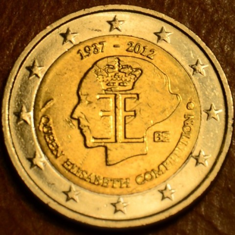 2 Euro Belgium 2012 - The 75th anniversary of the Queen Elisabeth Competition (UNC)