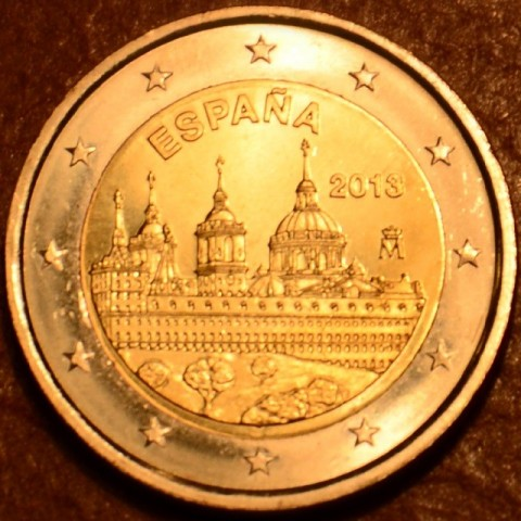 2 Euro Spain 2013 - The Royal Seat of San Lorenzo de El Escorial (UNC)