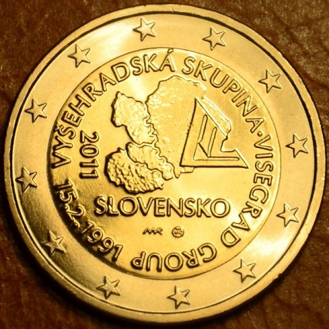 2 Euro Slovakia 2011 - 20th anniversary of the formation of the Visegrad Group  (UNC)