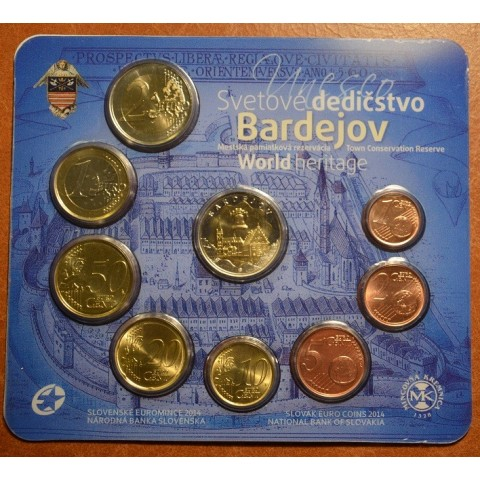 "Set of Slovak coins 2014 ""UNESCO - Bardejov"""