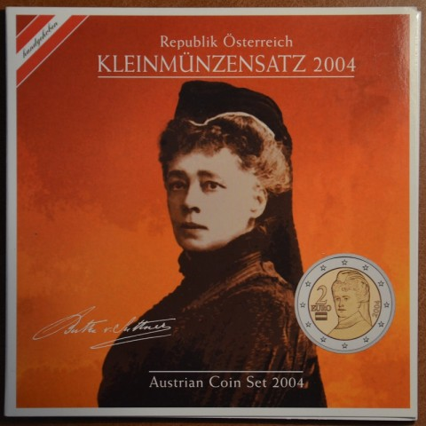 Set of 8 coins Austria 2004 (BU)