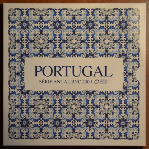 Official set of 8 Portugal coins 2009  (BU)