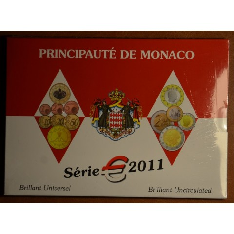 Euro set of 9 coins Monaco 2011 (BU)