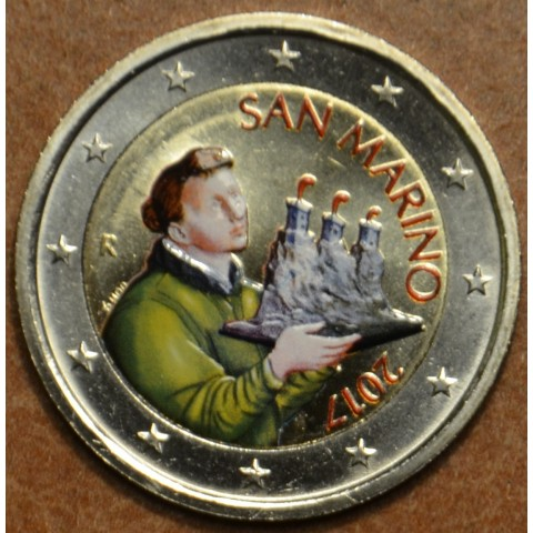 2 Euro San Marino 2017 - Saint Marinus (colored UNC)