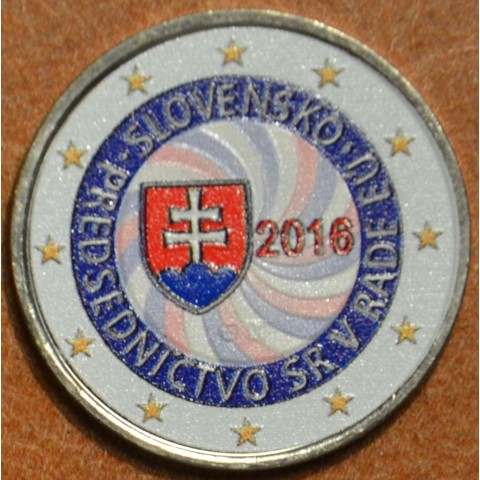 2 Euro Slovakia 2016 - EU presidency VI. (colored UNC)