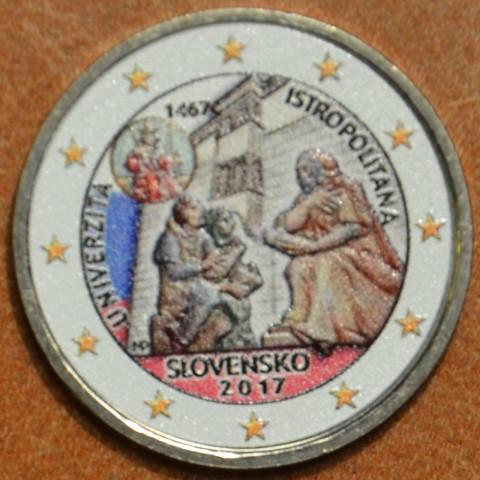2 Euro Slovakia 2017 - Univerzita Istropolitana V. (colored UNC)