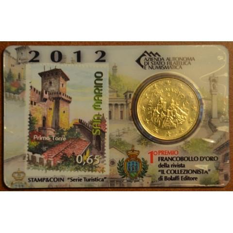 50 cent San Marino 2012 + stamp (BU)
