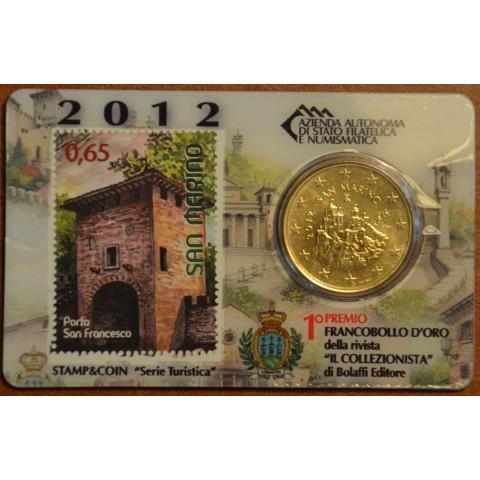 50 cent San Marino 2012 + stamp II. (BU)