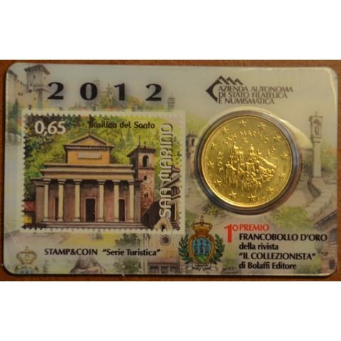 50 cent San Marino 2012 + stamp III. (BU)
