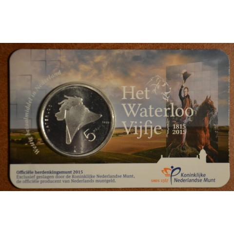 5 Euro Netherlands 2015 Waterloo (UNC card)