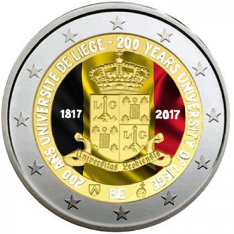 2 Euro Belgium 2017 - University of Liege II. (colored UNC)