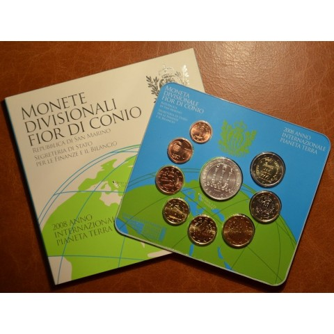 Official 9 coins set of San Marino 2008 (BU)