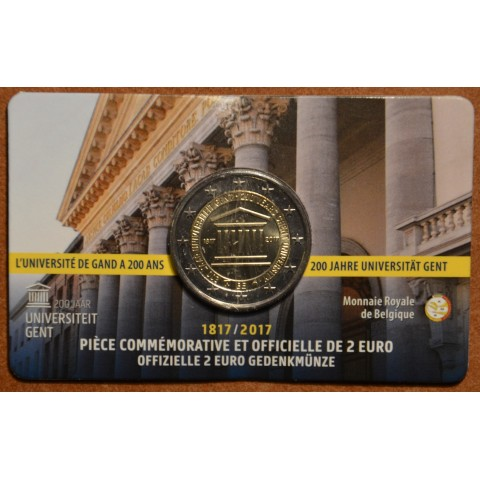 2 Euro Belgium 2017 - University of Ghent (BU card French side)
