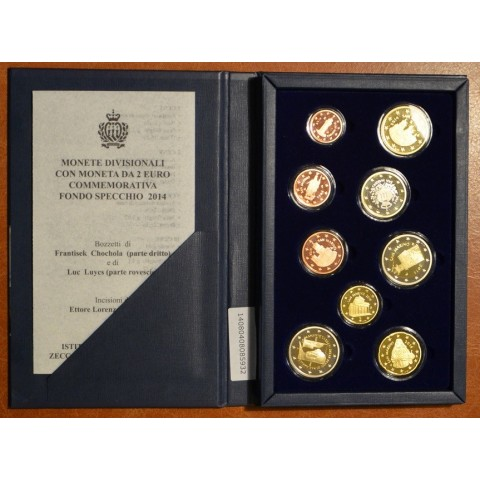 Set of 9 Euro coins San Marino 2014 (Proof)