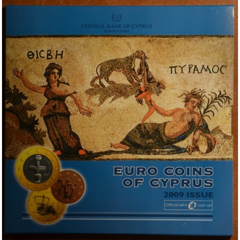 Set of 9 eurocoins Cyprus 2009 (BU)