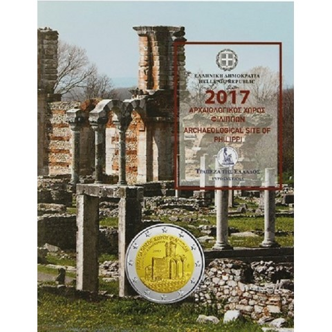 2 Euro Greece 2017 - Archaeological site of Philippi (BU card)