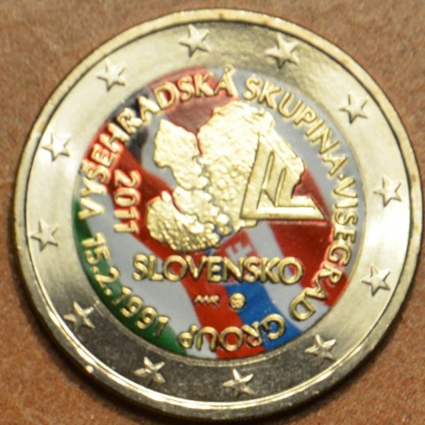 2 Euro Slovakia 2011 - 20th anniversary of the formation of the Visegrad Group V. (colored UNC)