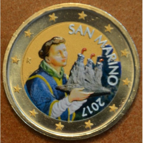 2 Euro San Marino 2017 - Saint Marinus II. (colored UNC)