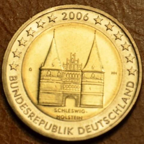 """2 Euro Germany """"G"""" 2006 - Holstentor in Lübeck / Schleswig-Holstein (UNC)"""