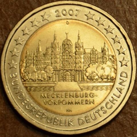 """2 Euro Nemecko """"D"""" 2007 - Mecklenburg-Vorpommern: Schwerin Castle (UNC)"""