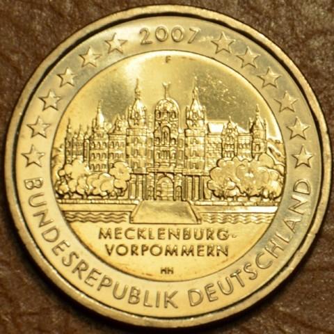 """2 Euro Nemecko """"F"""" 2007 - Mecklenburg-Vorpommern: Schwerin Castle (UNC)"""