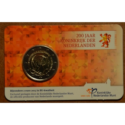 2 Euro Netherlands 2013 - 200 Years of Kingdom (BU card)