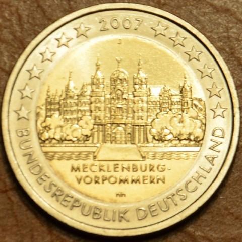 """2 Euro Nemecko """"J"""" 2007 - Mecklenburg-Vorpommern: Schwerin Castle (UNC)"""