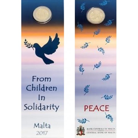 2 Euro Malta 2017 - French mintmark - From Children in Solidarity (BU card)
