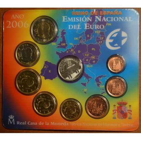 Official set of 9 Spanish coins 2006  (BU)