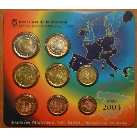 Official set of 8 Spanish coins 2004  (BU)