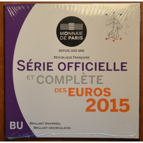 Official set of 8 French coins 2015  (BU)