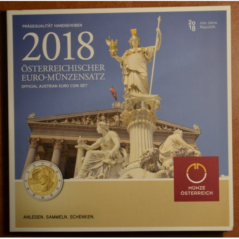 Set of 8 coins Austria 2018 (BU)
