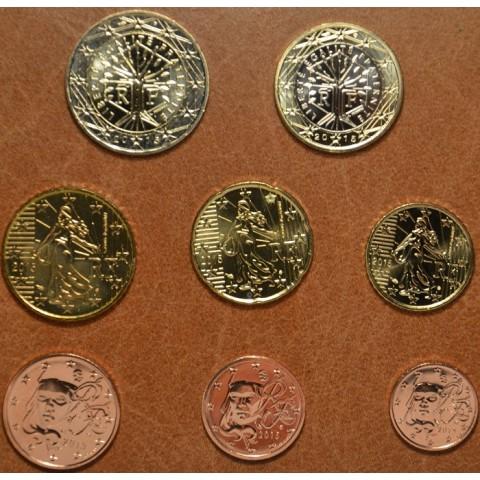 Set of 8 eurocoins France 2015 (UNC)