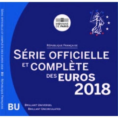 Set of 8 eurocoins France 2018 (BU)