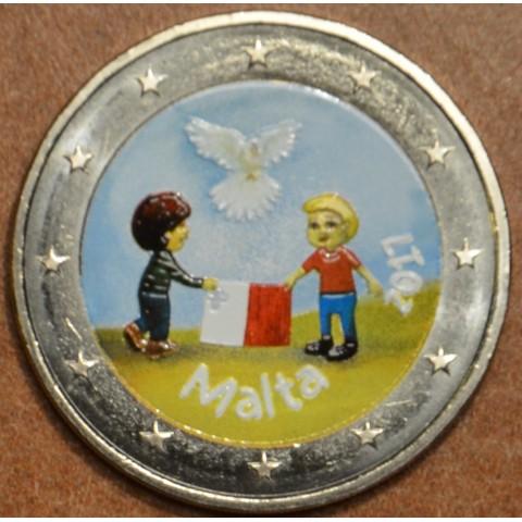 2 Euro Malta 2017 - From Children in Solidarity II. (colored UNC)