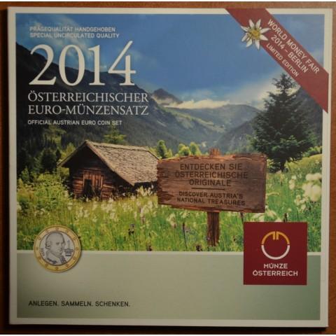 Set of 8 coins Austria 2014 (BU)
