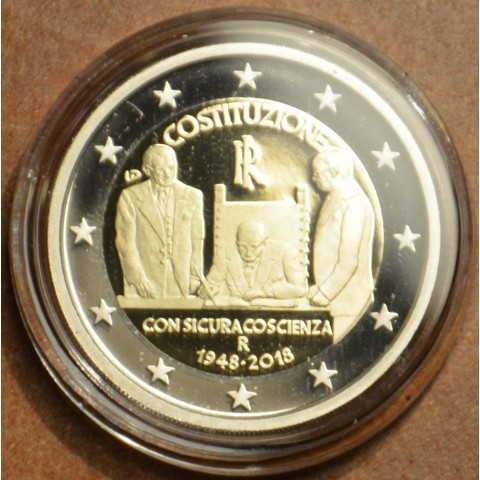 2 Euro Italy 2018 - 70th Constitution of Italy (Proof)