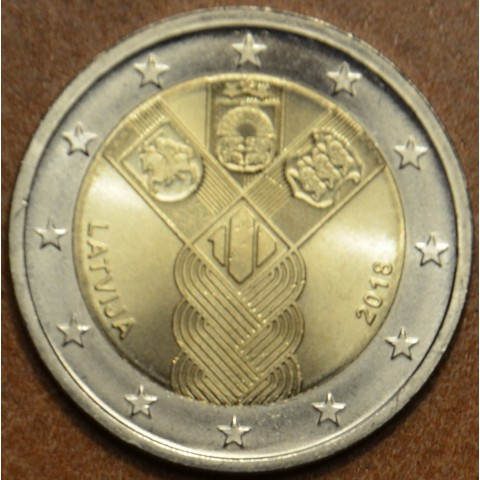 2 Euro Latvia 2018 - Baltic Community Issue - 100 Years of Independence (UNC)