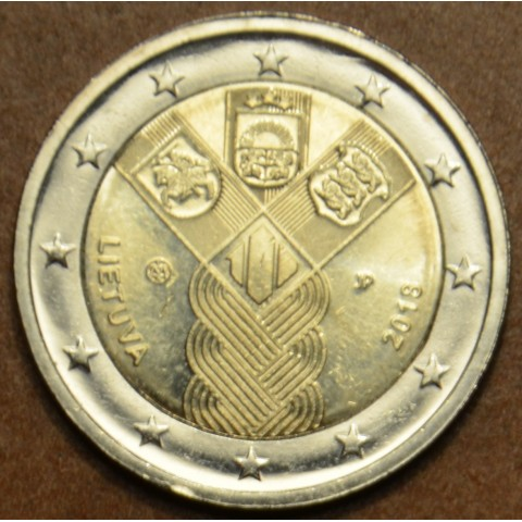 2 Euro Lithuania 2018 - Baltic Community Issue - 100 Years of Independence (UNC)