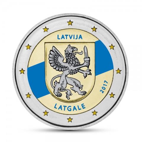 2 Euro Latvia 2017 - Latgale (colored UNC)