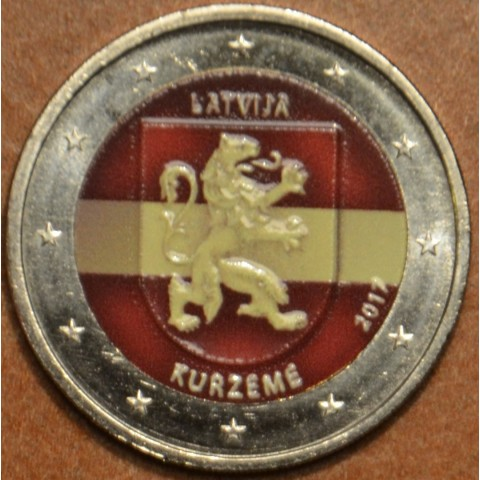 2 Euro Latvia 2017 - Kurzeme II. (colored UNC)