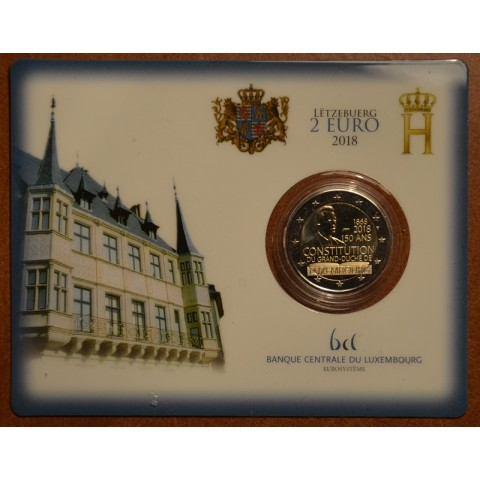 2 Euro Luxembourg 2018 - The 150th anniversary of the Luxembourg Constitution (BU card)