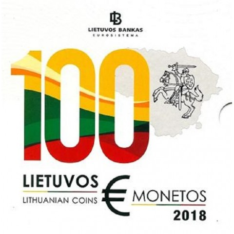 Official set of 8 coins of Lithuania 2018  (BU)