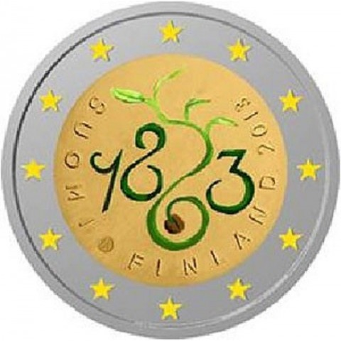 2 Euro Finland 2013 - 150th Anniversary of Parliament of 1863 (UNC)