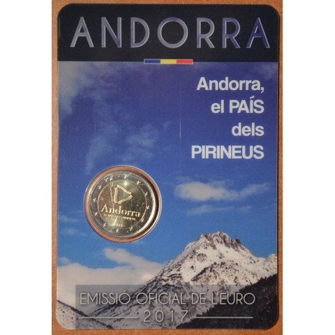 2 Euro Andorra 2017 - The Pyrenean country (BU card)