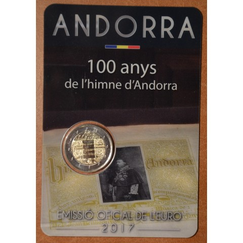 2 Euro Andorra 2017 - 100 years of the anthem (BU card)