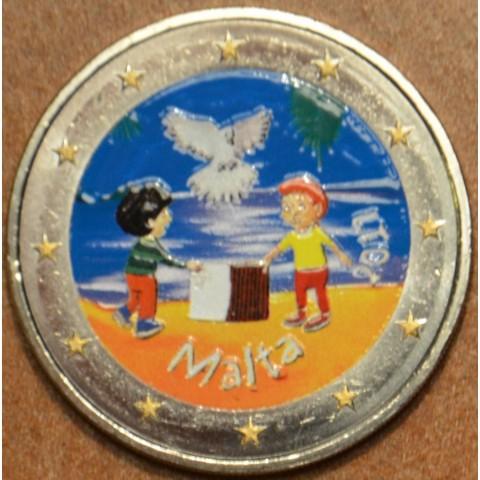 2 Euro Malta 2017 - From Children in Solidarity III. (colored UNC)