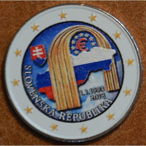 2 Euro Slovakia 2018 - 25 year of Slovak Republic IV. (colored UNC)